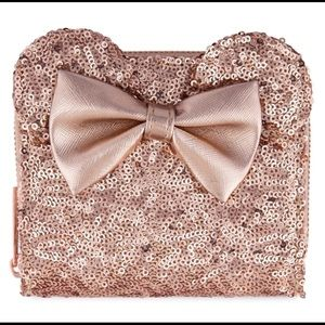 Loungefly Rose Gold Minnie Wallet